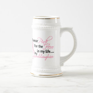 Breast Cancer HERO IN MY LIFE MY GRANDDAUGHTER 1 Coffee Mug