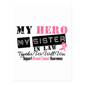 Breast Cancer HERO My Sister-in-Law Postcard