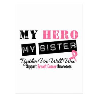 Breast Cancer HERO My Sister Postcards