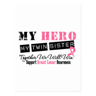 Breast Cancer HERO My Twin Sister Postcard