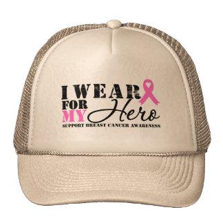 Breast Cancer Hero Pink Ribbon Hats