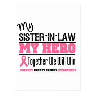 Breast Cancer Hero Sister-in-Law Postcard