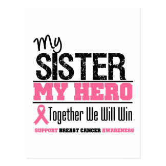 Breast Cancer Hero Sister Postcard