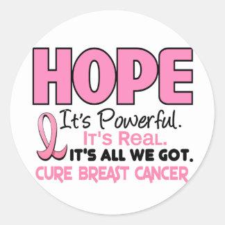 Breast Cancer HOPE 1 Round Sticker