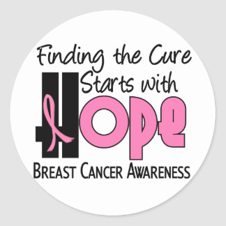 Breast Cancer HOPE 4 Classic Round Sticker