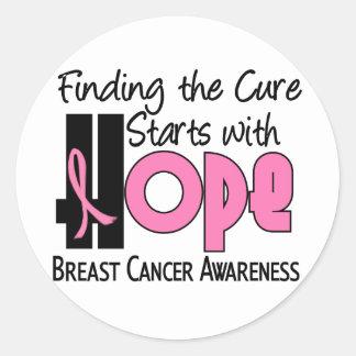 Breast Cancer HOPE 4 Round Sticker