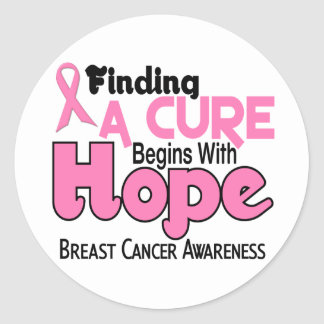 Breast Cancer HOPE 5 Classic Round Sticker