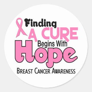 Breast Cancer HOPE 5 Round Sticker