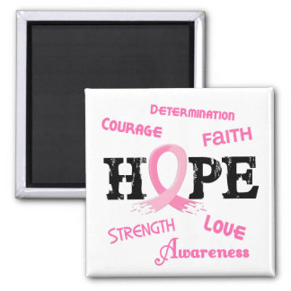Breast Cancer HOPE 7.1 Square Magnet