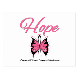 Breast Cancer Hope Butterfly Ribbon Postcards