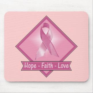 Breast Cancer Hope Faith Love Mouse Pad