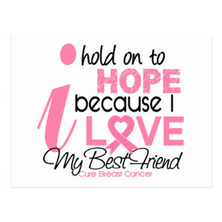 Breast Cancer Hope for My Best Friend Post Card