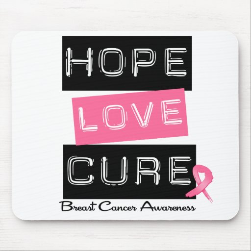 Breast Cancer Hope Love Cure Mouse Mat