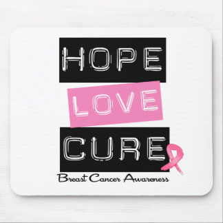 Breast Cancer Hope Love Cure Mouse Mats