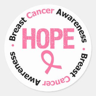 Breast Cancer Hope Round Sticker
