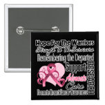 Breast Cancer Hope Tribute Collage 15 Cm Square Badge