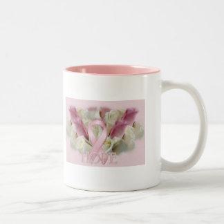 Breast Cancer Hope Two-Tone Coffee Mug