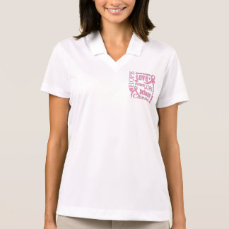 Breast Cancer Hope Words Collage Polo Shirt