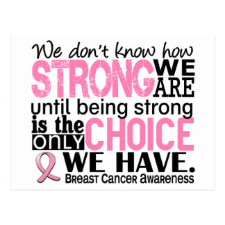 Breast Cancer How Strong We Are Post Card