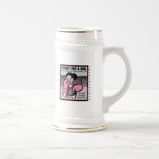Breast Cancer I Fight Like A Girl Battle Beer Steins