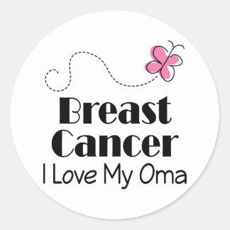 Breast Cancer I Love My Oma Round Sticker