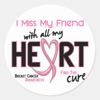 Breast Cancer I Miss My Friend Round Sticker