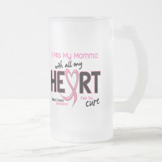 Breast Cancer I Miss My Momma Frosted Glass Beer Mug