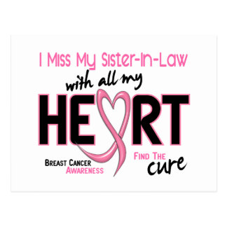 Breast Cancer I Miss My Sister-In-Law Postcard