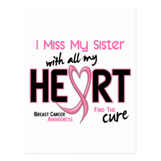 Breast Cancer I Miss My Sister Postcard