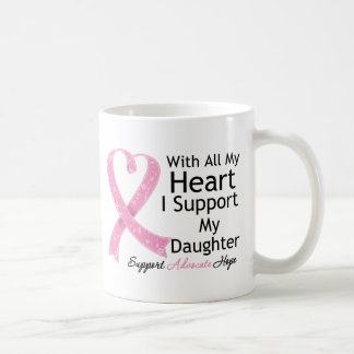 Breast Cancer I Support My Daughter Mugs