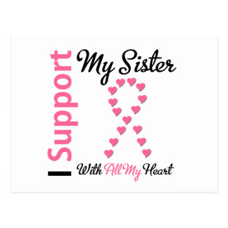Breast Cancer I Support My Sister Postcard