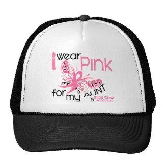 Breast Cancer I WEAR PINK FOR MY AUNT 45 Cap