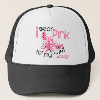 Breast Cancer I WEAR PINK FOR MY AUNT 45 Trucker Hat