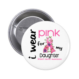 Breast Cancer I WEAR PINK FOR MY DAUGHTER 43 6 Cm Round Badge