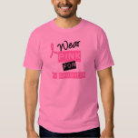 Breast Cancer I Wear Pink For My Daughter T Shirts