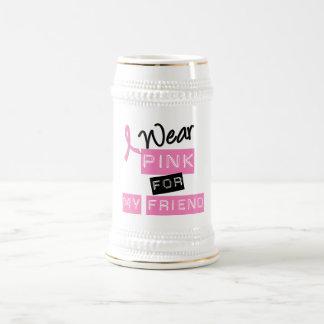 Breast Cancer I Wear Pink For My Friend Coffee Mug