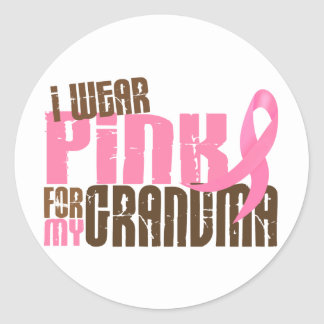 Breast Cancer I WEAR PINK FOR MY GRANDMA 6.3 Classic Round Sticker
