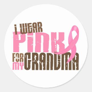 Breast Cancer I WEAR PINK FOR MY GRANDMA 6.3 Round Sticker