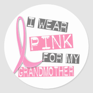 Breast Cancer I Wear Pink For My Grandmother 37 Stickers