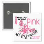 Breast Cancer I WEAR PINK FOR MY GRANDMOTHER 45 15 Cm Square Badge