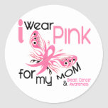 Breast Cancer I WEAR PINK FOR MY MOM 45 Round Sticker