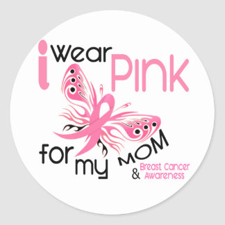 Breast Cancer I WEAR PINK FOR MY MOM 45 Stickers