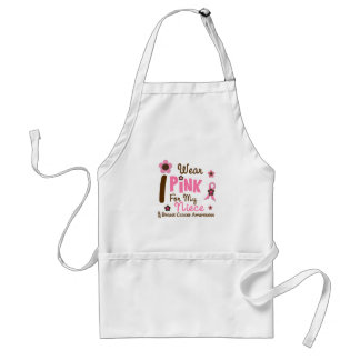 Breast Cancer I Wear Pink For My Niece 12 Standard Apron