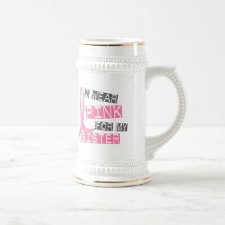Breast Cancer I Wear Pink For My Sister 37 Coffee Mug