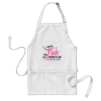 BREAST CANCER I Wear Pink For My Sister-In-Law 41 Standard Apron