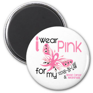 Breast Cancer I WEAR PINK FOR MY SISTER-IN-LAW 45 6 Cm Round Magnet