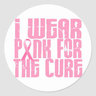BREAST CANCER I Wear Pink For The Cure 16 Stickers