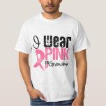 Breast Cancer I Wear Pink Ribbon For My Grandma Tee Shirt