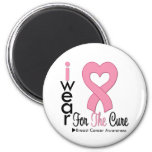 Breast Cancer I Wear Pink Ribbon For The Cure Magnets