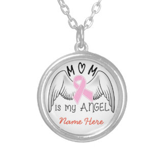 Breast Cancer In Memory of Mom Necklace
